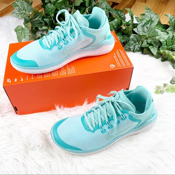 cheaper aae3c 9500d Nike NIB NWT Free Run RN 2018 Teal Blue Sneakers NWT